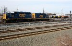 CSX 6922, 2282 and the engine facility tracks.